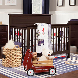 Davinci Autumn 4-in-1 Convertible Crib, Dark Brown, rollover