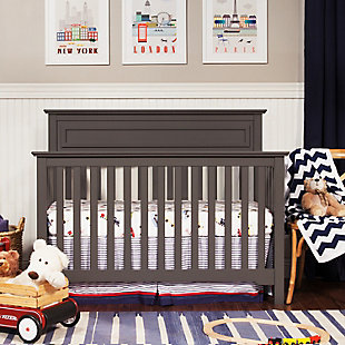 Davinci Autumn 4-in-1 Convertible Crib, Gray, rollover