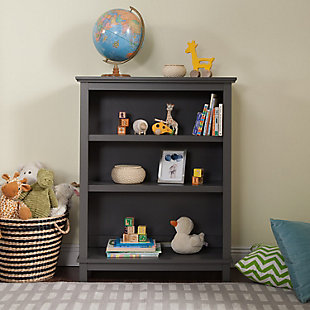 Davinci Autumn Bookcase/Hutch, Gray, rollover