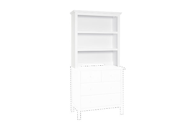 Davinci Autumn Bookcase/Hutch, White, large