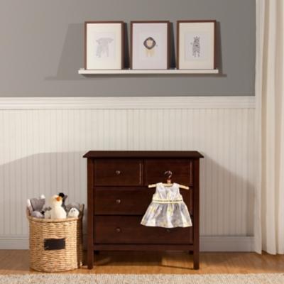 Davinci Autumn 4 Drawer Dresser, Dark Brown, large