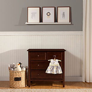 Davinci Autumn 4 Drawer Dresser, Dark Brown, rollover