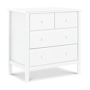Davinci Autumn 4 Drawer Dresser, White, large