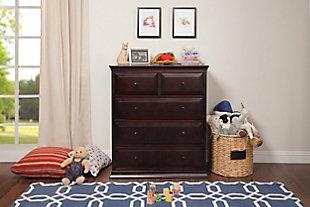 Davinci Signature 5 Drawer Tall Dresser, Brown, rollover
