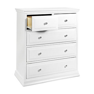 Davinci Signature 5 Drawer Tall Dresser, White, large