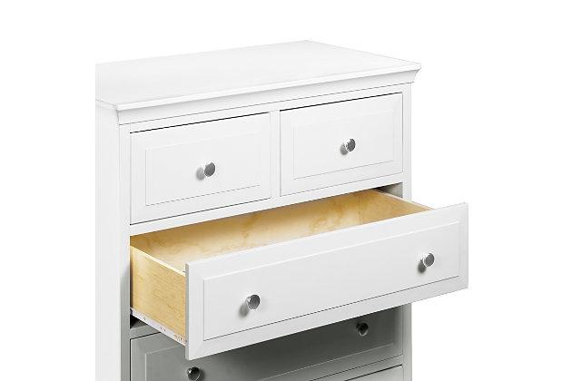 Davinci Signature 5 Drawer Tall Dresser, White, large