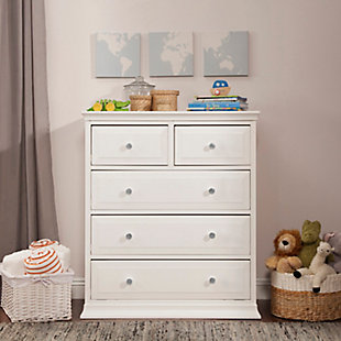 Davinci Signature 5 Drawer Tall Dresser, White, rollover