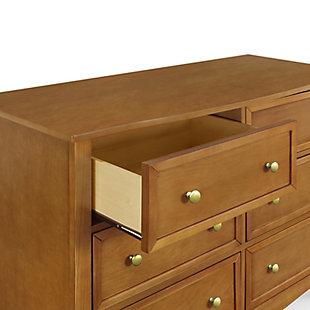 Davinci Kalani 6 Drawer Double Wide Dresser, Brown, large