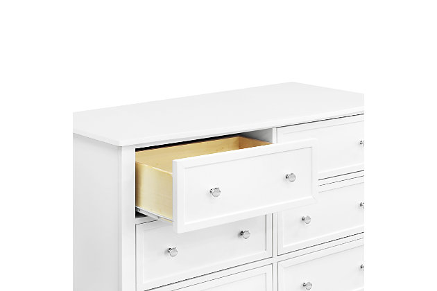 Davinci Kalani 6 Drawer Double Wide Dresser, White, large
