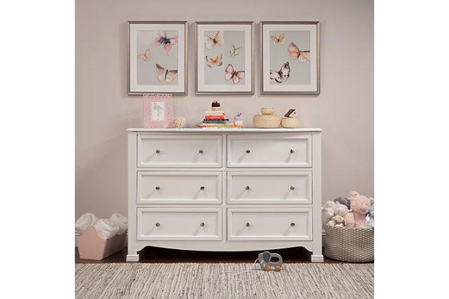 Davinci Kalani 6 Drawer Double Wide Dresser, , large