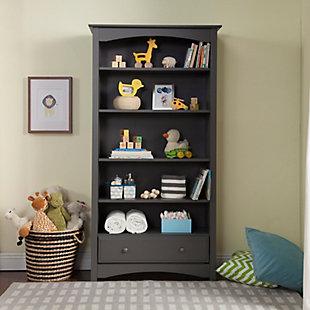 Davinci MDB Bookcase, Gray, large