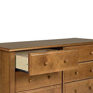 Davinci Jayden 6 Drawer Double Wide Dresser, Brown, large
