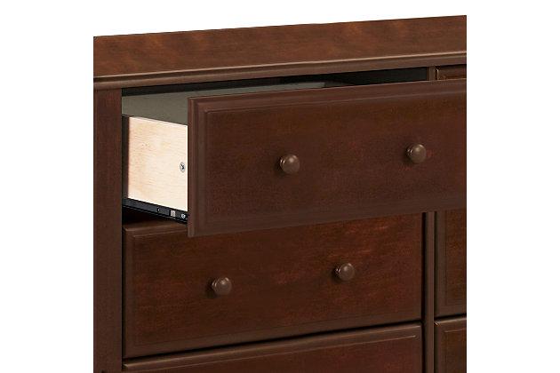 Davinci Jayden 6 Drawer Double Wide Dresser, Dark Brown, large