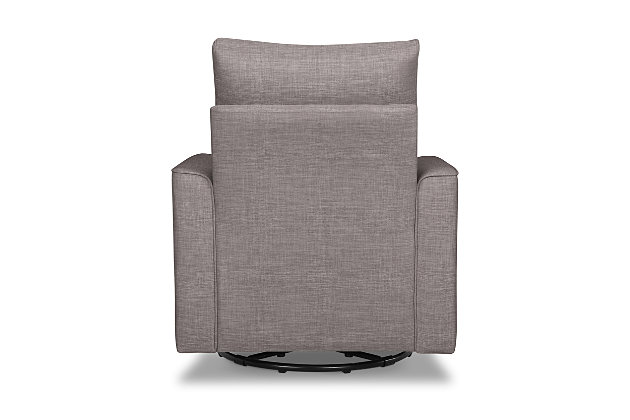 Million Dollar Baby Classic Alden Swivel Glider, Gray, large