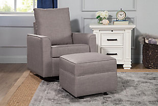 Million Dollar Baby Classic Alden Swivel Glider, Gray, rollover