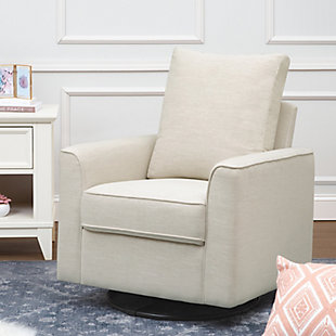 Million Dollar Baby Classic Alden Swivel Glider, Beige, large