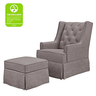 Million Dollar Baby Classic Sadie Swivel Glider with Storage Ottoman, , large