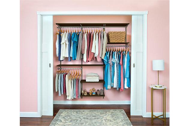 """Organized Living freedomRail® Basic Adjustable Closet Kit, 72""""-76"""", , large"""