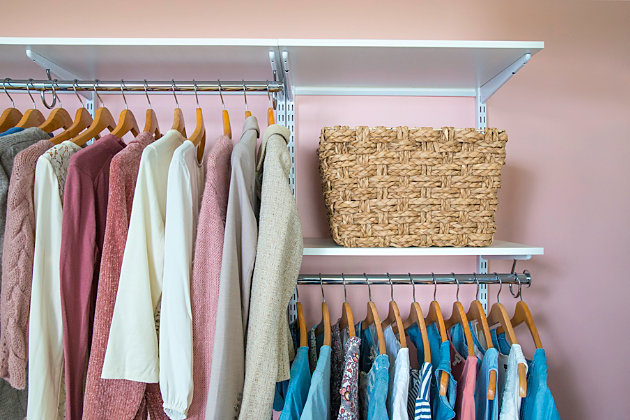 """Organized Living freedomRail® Basic Adjustable Closet Kit, 72""""-76"""", Chocolate Pear, large"""