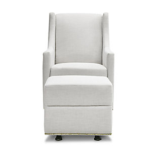Million Dollar Baby Classic Harper Swivel Glider with Gliding Ottoman, Light Gray, large