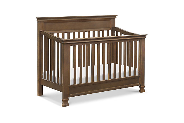 Million Dollar Baby Classic Foothill 4-in-1 Convertible Crib with Toddler Bed Conversion Kit, Brown, large