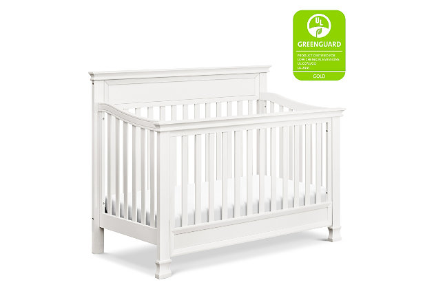 Million Dollar Baby Classic Foothill 4-in-1 Convertible Crib with Toddler Bed Conversion Kit, White, large