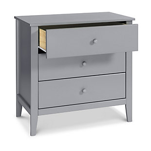 Carter's by Davinci Morgan 3 Drawer Dresser, Gray, large