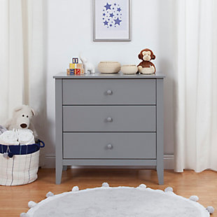 Carter's by Davinci Morgan 3 Drawer Dresser, Gray, rollover