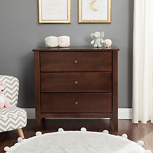Carter's by Davinci Morgan 3 Drawer Dresser, Brown, rollover