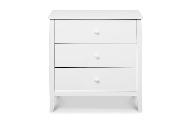 Carter's by Davinci Morgan 3 Drawer Dresser, White, large