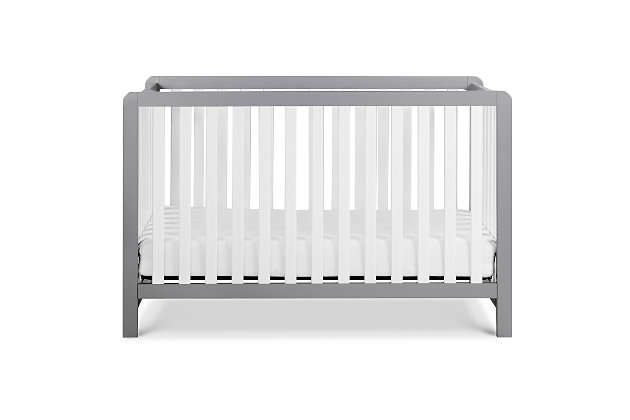 Carter's by Davinci Colby 4-in-1 Low Profile Convertible Crib, Gray/White, large