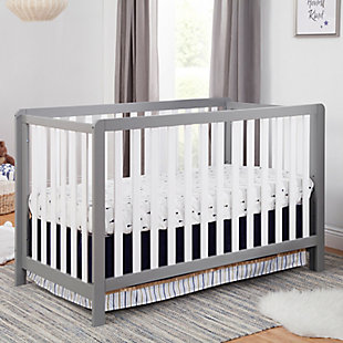 Carter's by Davinci Colby 4-in-1 Low Profile Convertible Crib, Gray/White, rollover