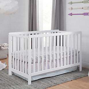 Carter's by Davinci Colby 4-in-1 Low Profile Convertible Crib, White, rollover