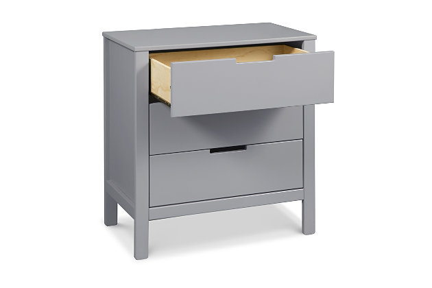 Carter's by Davinci Colby 3 Drawer Dresser, Gray, large