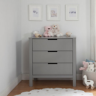 Carter's by Davinci Colby 3 Drawer Dresser, Gray, rollover