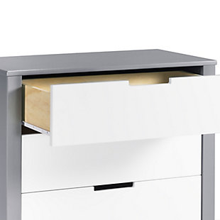 Carter's by Davinci Colby 3 Drawer Dresser, Gray/White, large