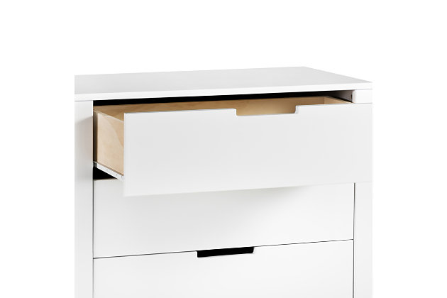 Carter's by Davinci Colby 3 Drawer Dresser, White, large