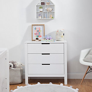 Carter's by Davinci Colby 3 Drawer Dresser, White, rollover