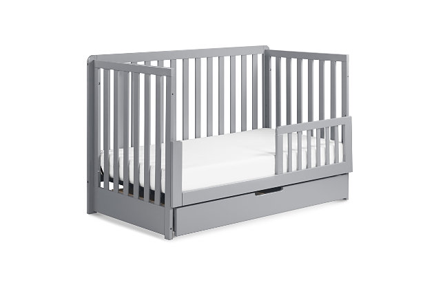Carter's by Davinci Colby 4-in-1 Convertible Crib with Trundle Drawer, Gray, large
