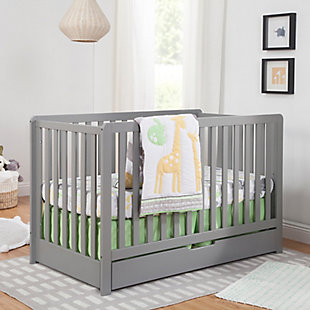 Carter's by Davinci Colby 4-in-1 Convertible Crib with Trundle Drawer, Gray, rollover