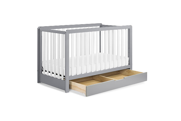 Carter's by Davinci Colby 4-in-1 Convertible Crib with Trundle Drawer, Gray/White, large
