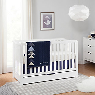 Carter's by Davinci Colby 4-in-1 Convertible Crib with Trundle Drawer, White, rollover