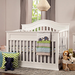 Davinci Brook 4-in-1 Convertible Crib with Toddler Conversion Kit, White, rollover