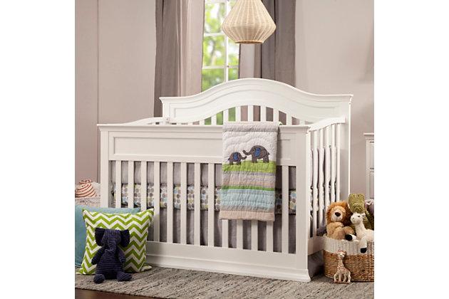Davinci Brook 4-in-1 Convertible Crib with Toddler Conversion Kit, White, large