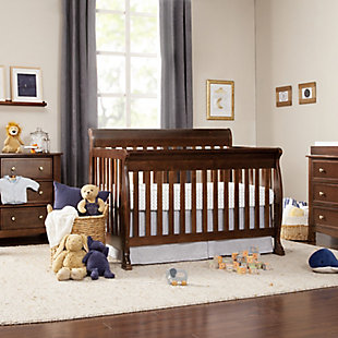 Davinci Kalani 4-in-1 Convertible Crib, Dark Brown, rollover