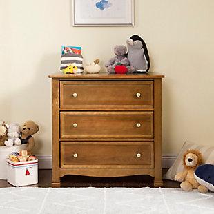 Davinci Kalani 3 Drawer Dresser, Brown, rollover