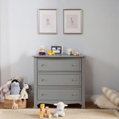 Davinci Kalani 3 Drawer Dresser, Gray, large