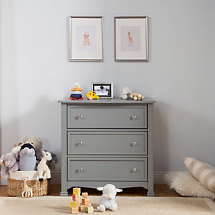 Davinci Kalani 3 Drawer Dresser, Gray, large