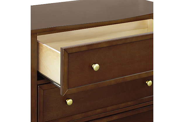Davinci Kalani 3 Drawer Dresser, Dark Brown, large