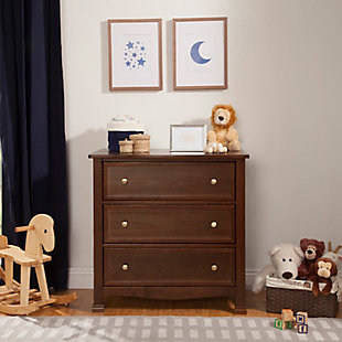 Davinci Kalani 3 Drawer Dresser, Dark Brown, rollover
